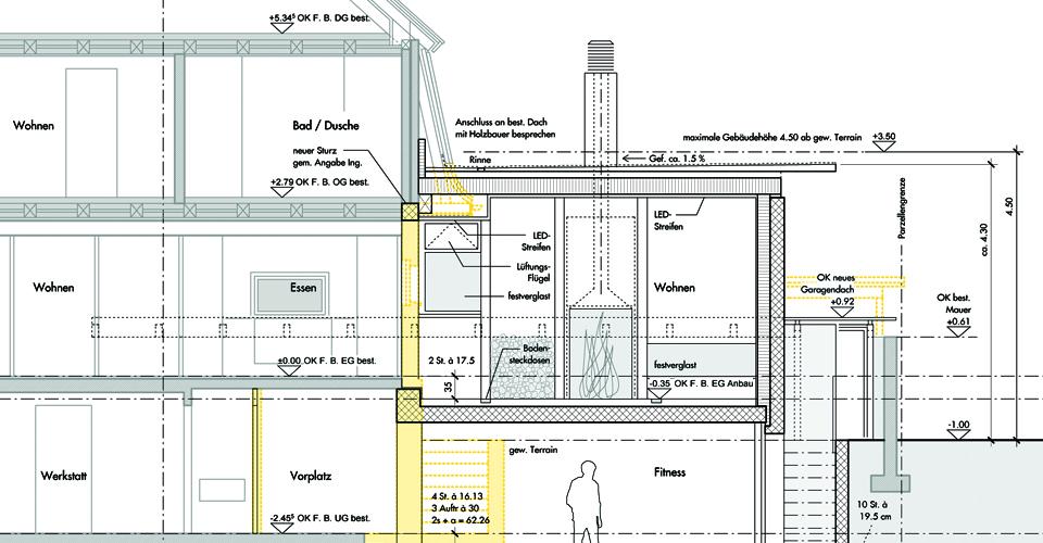 schnitt architektur 1 50 ostseesuche com. Black Bedroom Furniture Sets. Home Design Ideas
